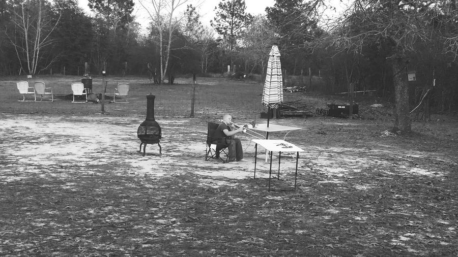Trombone Backyard Photography Music Outdoors❤ Band My son practicing his trombone in the back yard. Very proud mama!