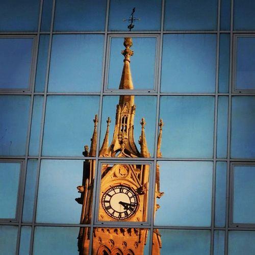 TimeDistorted Time Surbiton Clock Tower reflection windows