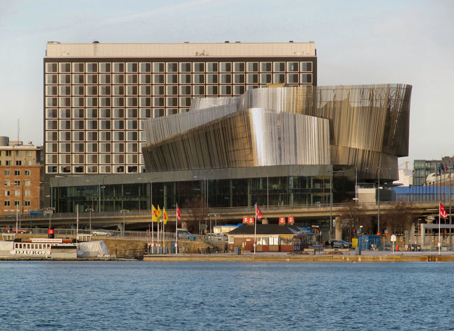 Architecture Building Exterior Clear Sky Day Outdoors Reflection Stockholm Water Waterfront