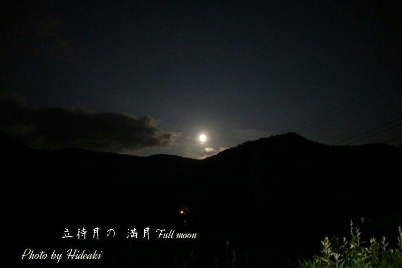 月 月明かり 山