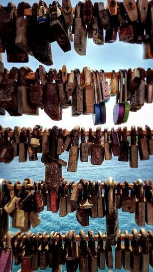 Hanging Abundance Large Group Of Objects Lock Padlock Close-up Padlocks Of Love Padlocks, Lovers Locks, Promises, True Love, Romance