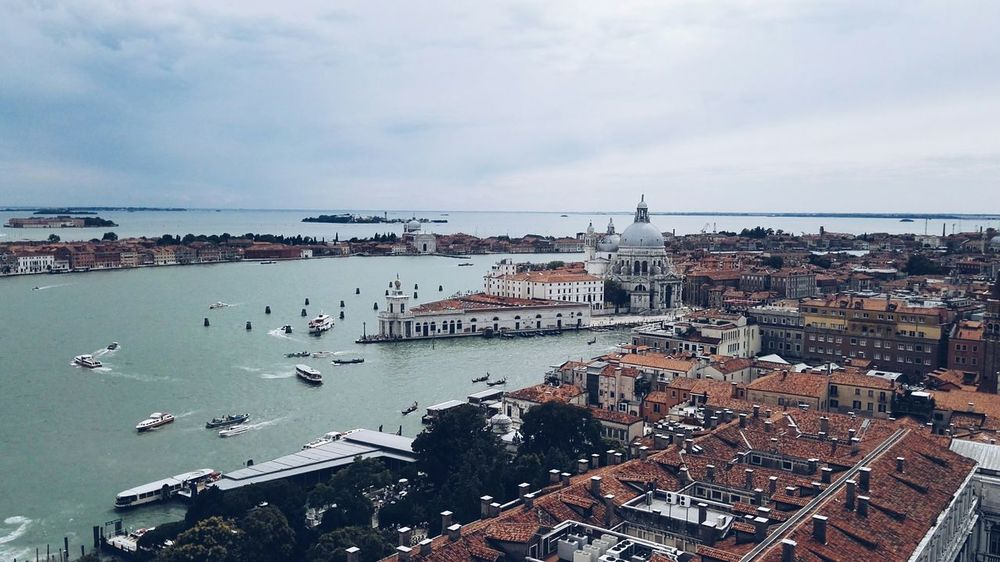 Water Architecture Tourism Venice, Italy Venezia Venice Piazza San Marco Venezia Majestic Horizon Over Water City Architecture First Eyeem Photo Boat Piazza San Marco Italy❤️ Italy🇮🇹 City Sea Mode Of Transport Cloud - Sky Day Outdoors City Life High Angle View Beauty In Nature