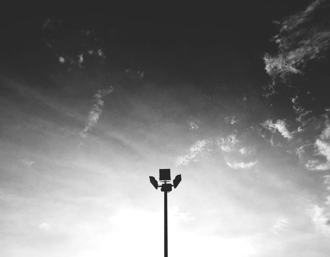 Lamp and sky Sky Low Angle View Cloud - Sky Lighting Equipment Nature Floodlight No People Street Light Street Electric Light Sunlight Silhouette Light