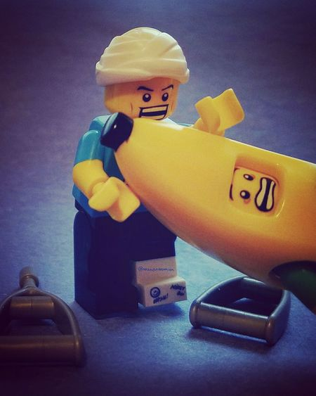 January 3-Therapy Will Help... PhotoADay Photo Challenge LEGO Minifigures Banana Man Clumsy Guy Hispalego
