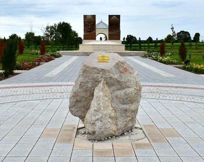 Stone monument against sky