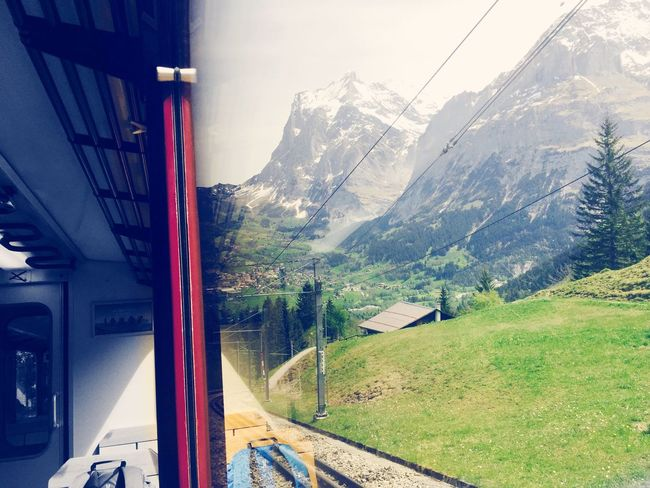 Only a Window Apart .📷❄️🚞 Check This Out IPhoneography Riding The Train On The Road Beautifulworld Breathtaking Landscape The Traveler - 2015 EyeEm Awards Popular Photos Swiss Alps Stunning Exciting Enjoying Life EyeEm Gallery