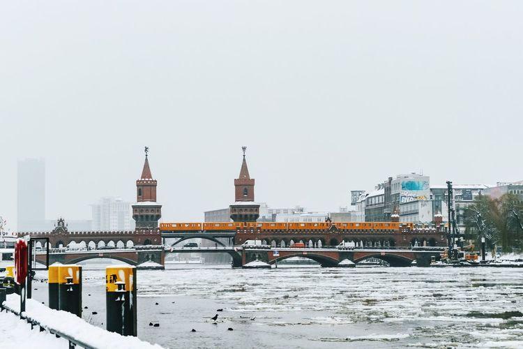 View Of Oberbaum Bridge During Winter