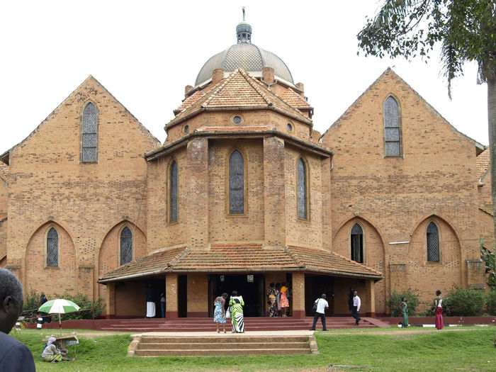 Namirembe Cathedral Kampala Africa Architecture Building Exterior Built Structure Cathedral City City Life Day Façade Grass Group Of People Kampala Lawn Leisure Activity Lifestyles Medium Group Of People Mixed Age Range Namirembe Cathedral Outdoors Sky Tourism Tourist Travel Destinations Uganda