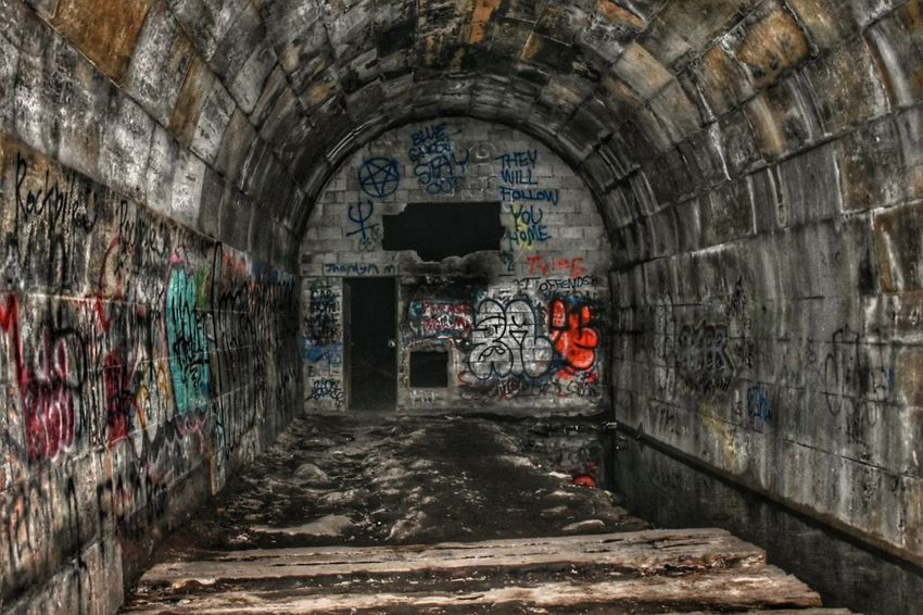 Abandoned train tunnel photo with HDR edit Built Structure Architecture Abandoned No People The Way Forward Arch Brick Wall EyeEm Best Shots - The Streets EyeEm Best Shots - Architecture Graffiti & Streetart Old Ruin Architecture_collection Undergroundphotography Underground Adventure Club Street Photography Tunnel Streetphotography Architecture Adapted To The City HDR Collection Hdr Edit Hdr_Collection HDR Urban Exploration