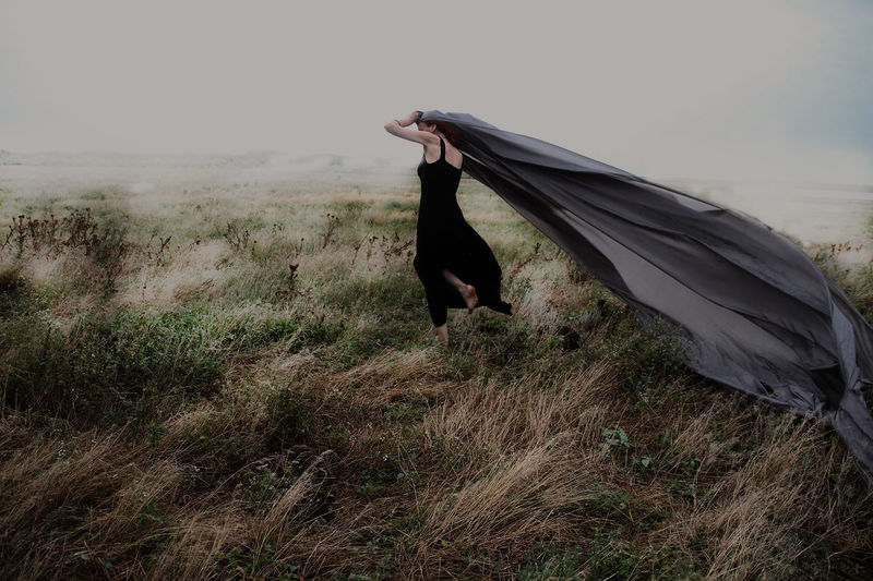 Against the wind... Art Is Everywhere ArtWork Creative Photography Fine Art Photography Woman Art Artistic Vision Creative Day Fine Art Outdoor Photography Vision Wind Woman In Landscape