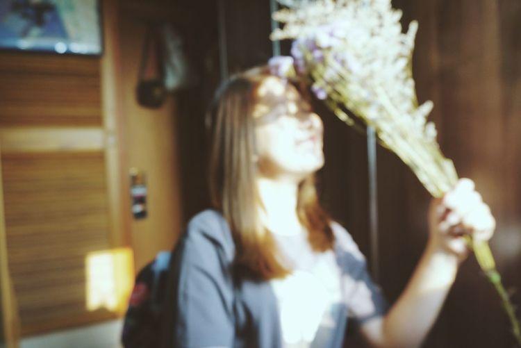 VSCO Vscocam Flower Smiling Girl Out-focus Film Photography