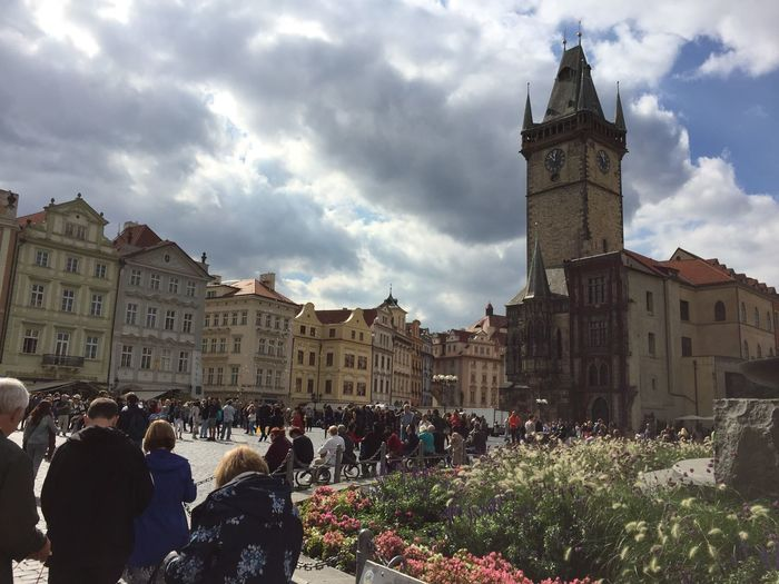 Adult Architecture Astronomical Clock Building Exterior Built Structure City Clock Clock Tower Cloud - Sky Crowd Day Large Group Of People Men Outdoors People Place Of Worship Real People Sky Time Tower Travel Destinations Women