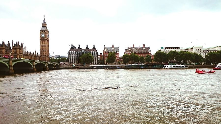 The north bank of the river Thames from the Southbank outside the SeaLife Centre London LONDON❤ Central London Centrallondon Big Ben Bigben City Cityscape Cityscapes City Life City View  River River Thames River Collection Riverbank River View Southbank Southbank London Houses Of Parliament Housesofparliament