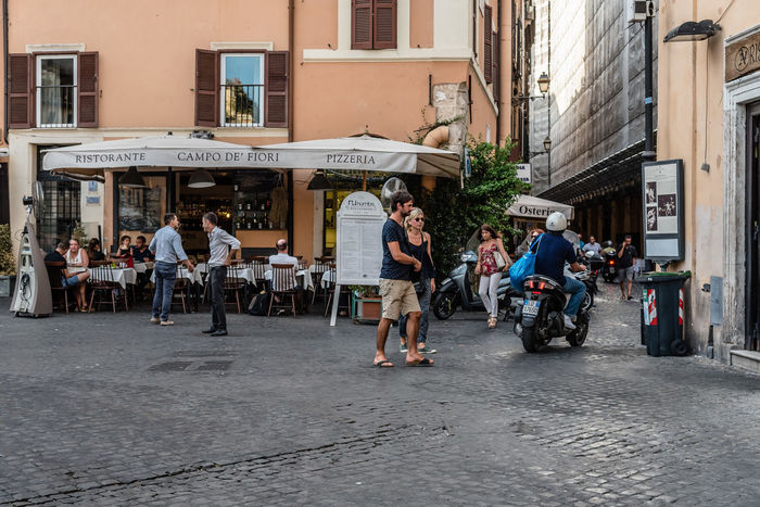 Monti di Fiori Square in Rome Adult Adults Only Architecture Building Exterior Built Structure City Day Full Length Italy Large Group Of People Monti Di Fiori Outdoors People Pizza Real People Restaurant Roma Roman Rome Square Street Travel Travel Destinations Walking Women