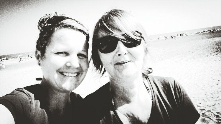 Black And White Family_selfie Enjoying The Sun