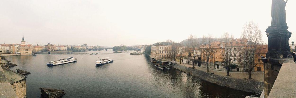 Great Views On The Bridge Panorama in Prague