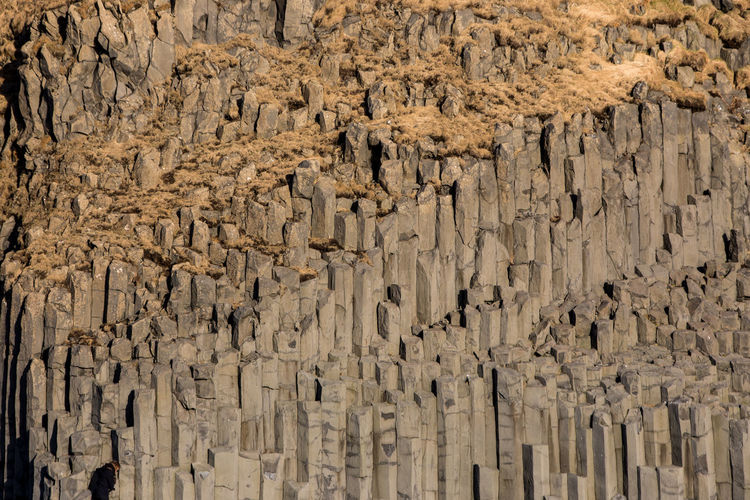 Iceland Arid Climate Backgrounds Basalto Basalto Vulcanico Brown Cave Eroded Full Frame Geology Large Group Of Objects Low Angle View Mountain Natural Pattern Nature No People Outdoors Pattern Rock Rock - Object Rock Formation Solid Stalactite  Textured  Wood - Material EyeEmNewHere