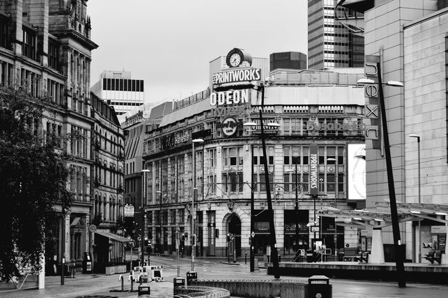 Manchester City Centre Manchester Printworks Cityscapes Blackandwhite Streetphotography EyeEm Best Shots - Black + White