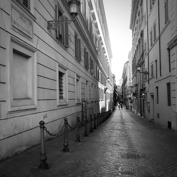 Vicolo. Street Alley Alleyway Rome Italy🇮🇹 Black & White