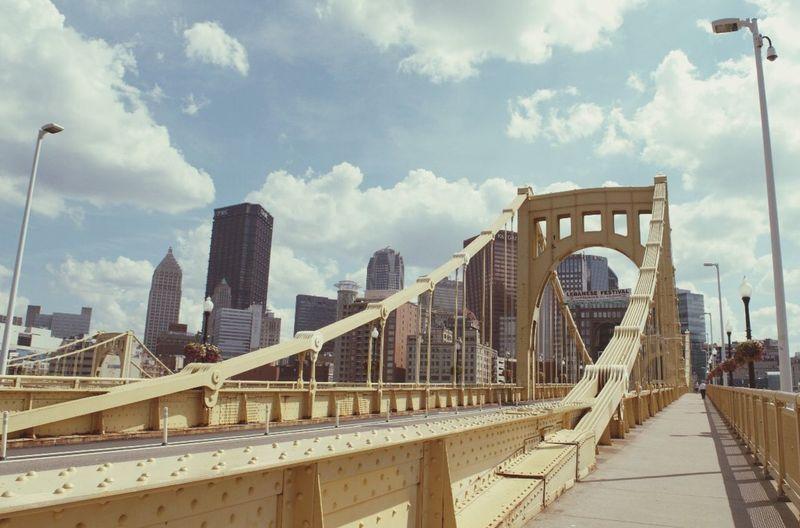 Pittsburgh Built Structure Architecture Sky Bridge Cloud - Sky Connection Bridge - Man Made Structure Skyscraper City The Architect - 2018 EyeEm Awards