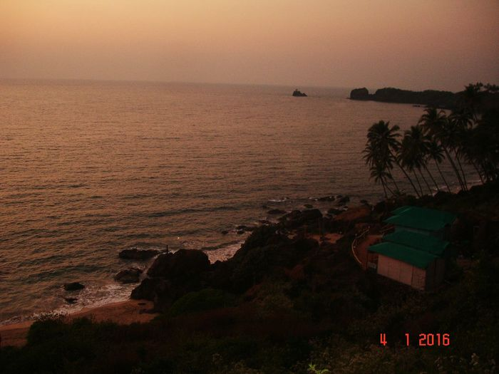 Learn & Shoot: After Dark Nature Photography Sea Beautiful Colors Of Nature Click Click 📷📷📷 Sunset #sun #clouds #skylovers #sky #nature #beautifulinnature #naturalbeauty #photography #landscape Goa ❤❤ Shacks Cabo De Rama Realax