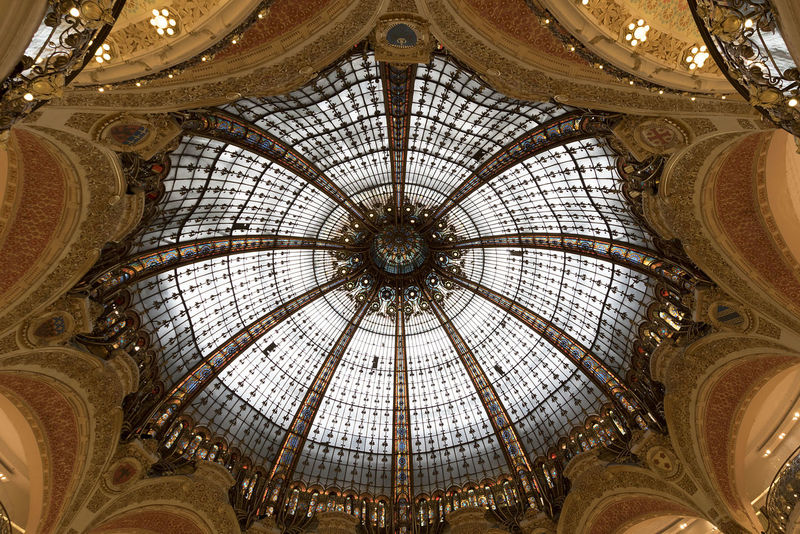 Architectural Feature Architecture Ceiling Fragility Indoors  La Fayette Gallery Paris Vaulted Ceiling