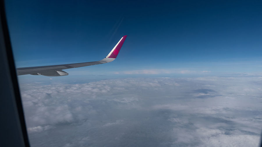 In the air with