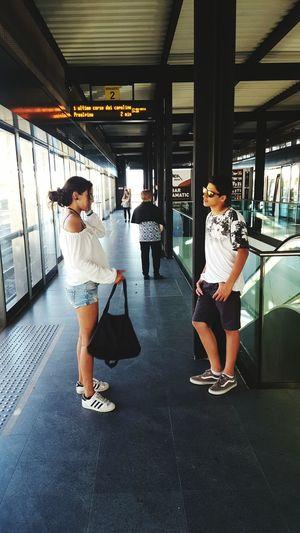 Teenagers  Metro Station Brescia Zelenezen Daughter