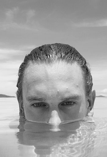 EyeEmNewHere Love looking at this face. Headshot Portrait Front View Tranquility MyDarling  Water Blackandwhite Photography Sweet Moments