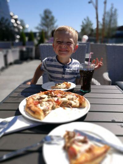 ILOVEMYSON Pizza Mylove Son Happy Kids Child