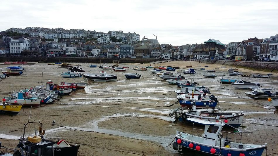 St Ives St Ives Harbour Cornwall Harbour Boats Fishing Boats Beach Sea Seaside Coast Low Tide Cornish Town Summer Road Trip in the south west