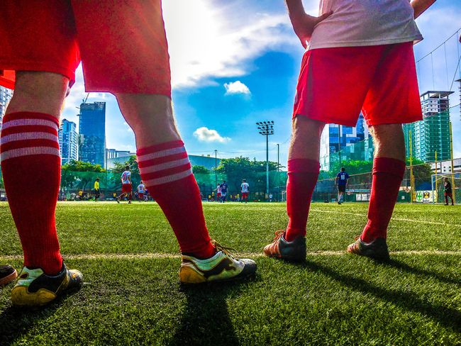 City Human Leg Low Section Outdoors Human Body Part Standing Men Real People Soccer Field People Adult Eyeem Philippines Sports Photography Sports Clothing Sports Team The Week On EyeEm