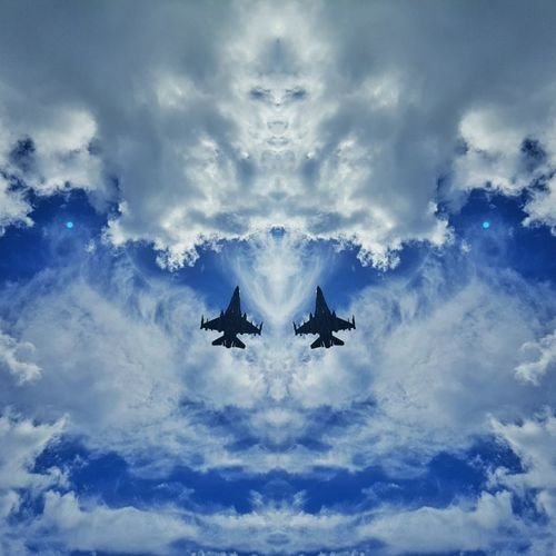 F16 F16fightingfalcon Military Airplane Blue Jetplane Plane Mirror Picture Skyformation The Magic Mission Flying High Resist Break The Mold Go Higher