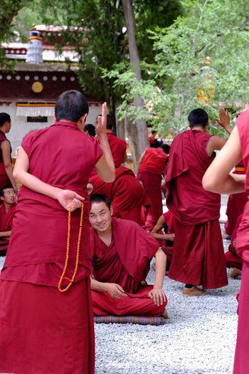 The Sera Monostery Lhasa, Tibet Sutra Debating
