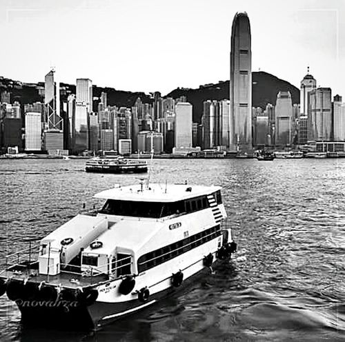 Victoria Bay Hongkong Feel The Journey Travel Black & White Eeyem New In Eeyem Mobile Photography