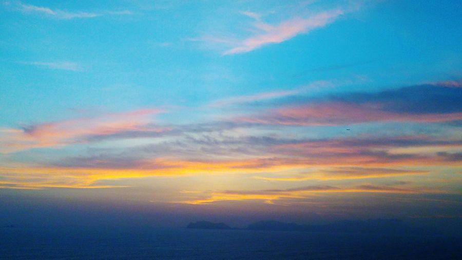 Sunoff Sunset Ocaso Atardecer Water Multi Colored Sunset Backgrounds Beauty Blue Sea Horizon Ethereal Dramatic Sky