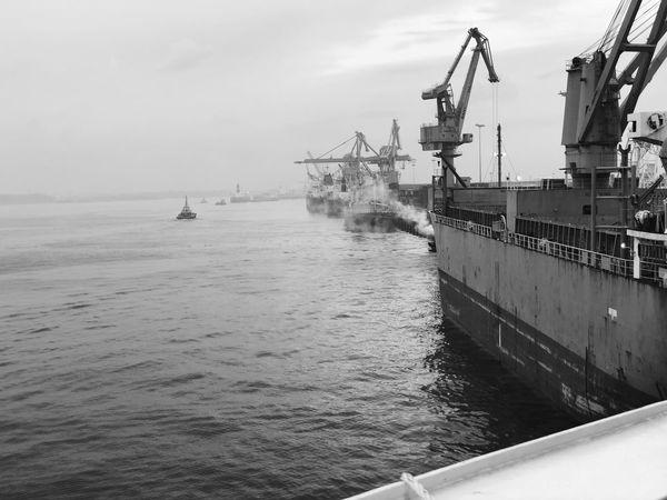 Nautical Vessel Transportation Water Sky Sea Freight Transportation Day