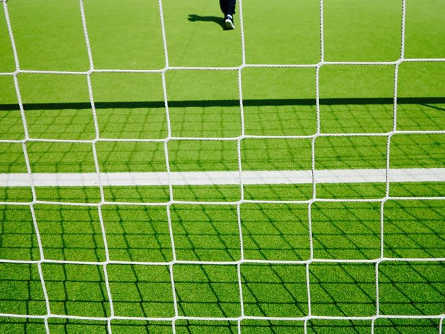 Breathing Space Football Football Goal Green Day Grass Green Color Outdoors Playing Field Soccer Soccer Field Sport Template