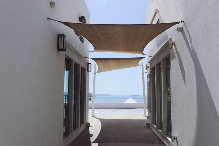 A View Greece Architecture Sunlight Built Structure Moderndesign White Blue View Of Water Water View Island Life Island Island View  Santorini, Greece