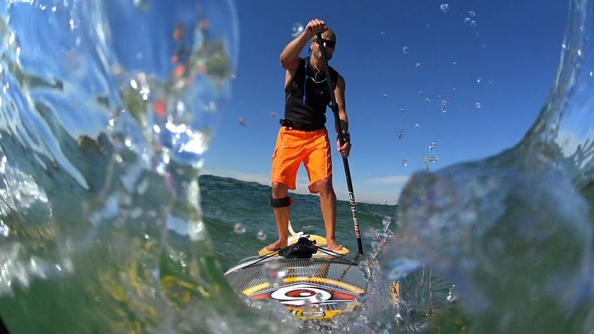 Standuppaddle Standup Paddleboarding Supboard Water Exploration Standuppaddleboarding Standuppaddleboards Sea Summer Outdoors Watersports Watersport StandupPaddleBoard Carefree Vacations Water Vacations Focus On Foreground Sea Tourist Fun Tourism Blue Enjoyment Day First Eyeem Photo