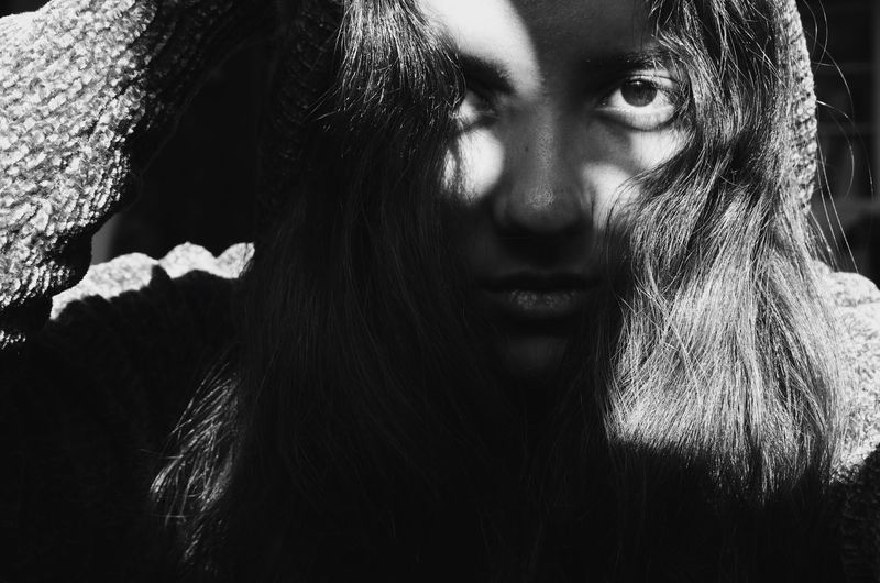 Spooky Young Women Real People One Person Young Adult Outdoors Close-up Portrait Day Nature Flower Halloween People Black And White Friday