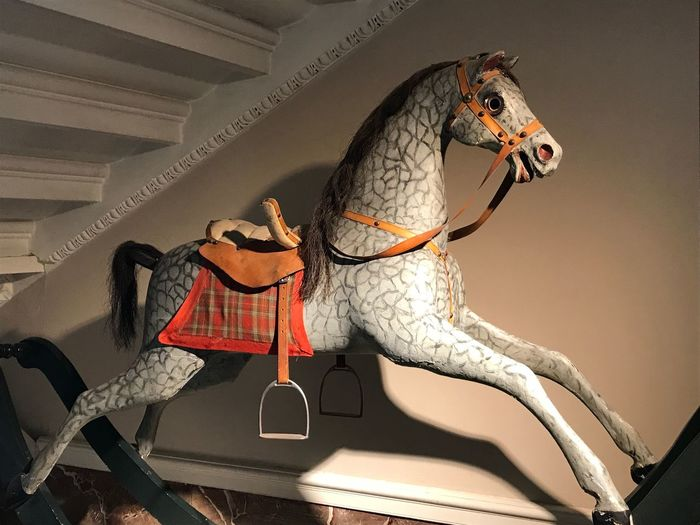 Rocking horse Vintage Creepy Rocking Horse Victorian Toys EyeEm Selects Indoors  No People Animal Themes Close-up Day Mammal