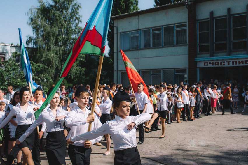 From the Left Bank series. Last bell manifestation at School nr9 in Ribnita. Transnistrian Region, Republic of Moldova. Documentary Documentary Photography Flag The Photojournalist - 2017 EyeEm Awards