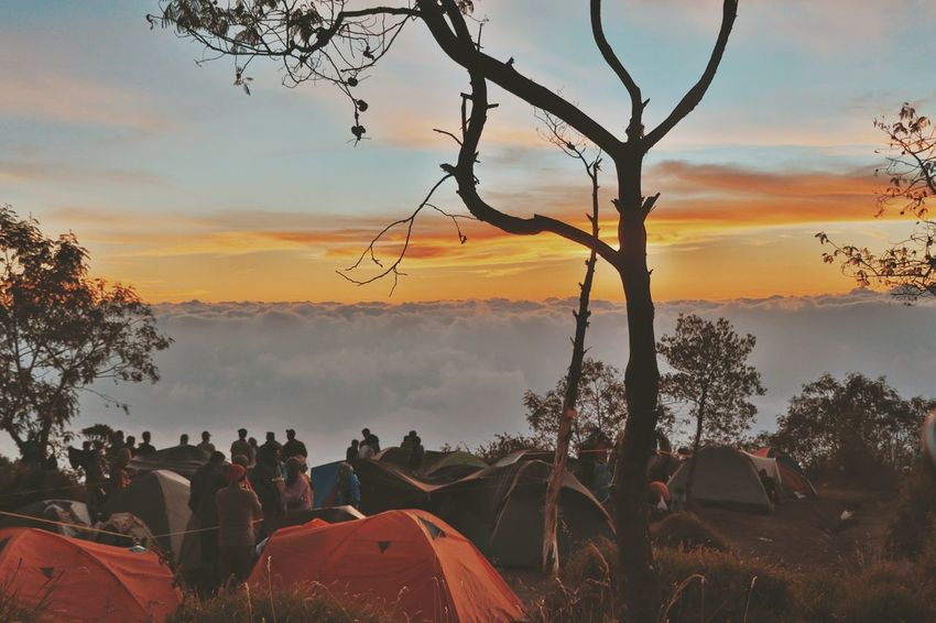 Mood.. Large Group Of People People Cloud - Sky Sunset Tree Red Travel Destinations Vacations Adult Sky Outdoors Tent Nature Adults Only Day Mountain Adventure Canonphotography Hiking Beauty In Nature Landscape