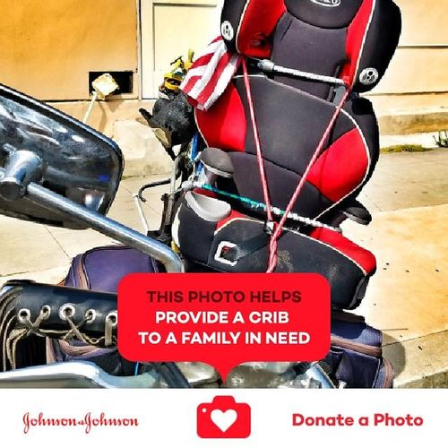 Motorcycle with a toddlers seat on it Red No People Day Outdoors Straight From The Camera Jonhson And Johnson Donation Collection Collection Of Special Effects Photographs Johnson And Johnson Donate A Photo Motorcycles Lover MotorcyclesGirl Motorcycle Photography Motorcycle With A Toddler Seat Toddler Seat