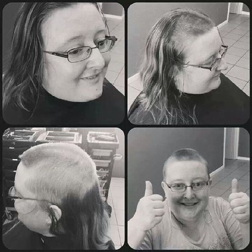 WorldsGreatestShave LeukaemiaFoundation Lecurls Hairdressing Bebraveandshave Bloodcancers For all those with Cancer this ones for you guys I Support you. Heartthispic thanks to @lecurls_merimbula I am very Proud of this :)