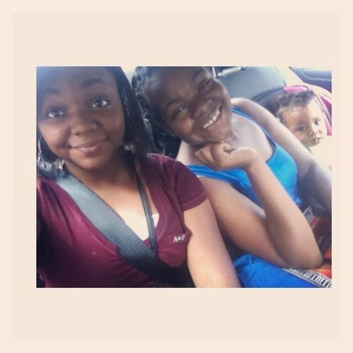 With Nene The Friend & Londyn my baby ! It was fun asf !