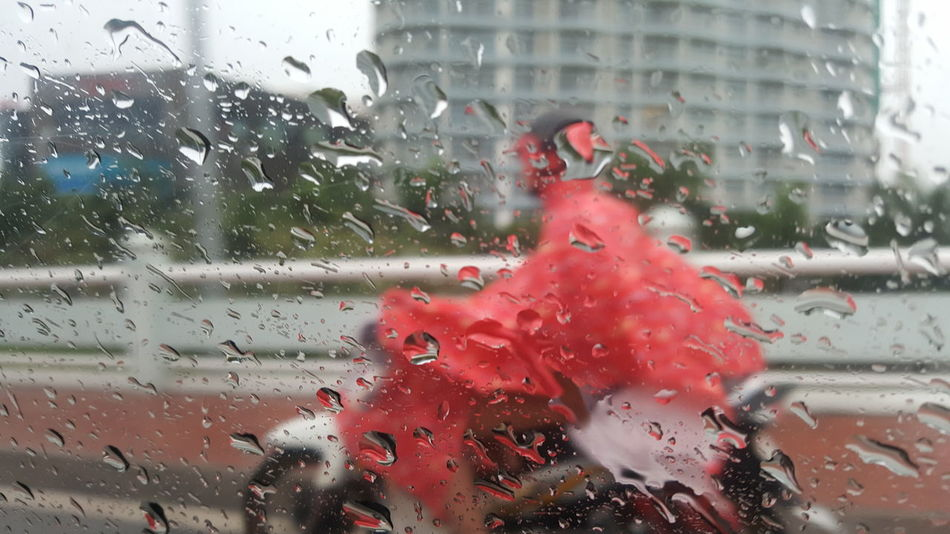 It's wet out there... Window Car Rain Da Nang Vietnam Street Traffic Weather Wet Raindrops