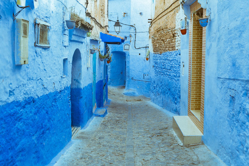 City Medina Morocco Travel Travelling Africa Architecture Blue Building Exterior Built Structure Chefchaouen Day No People Outdoors Photooftheday Street The Way Forward Travel Destinations First Eyeem Photo EyeEmNewHere