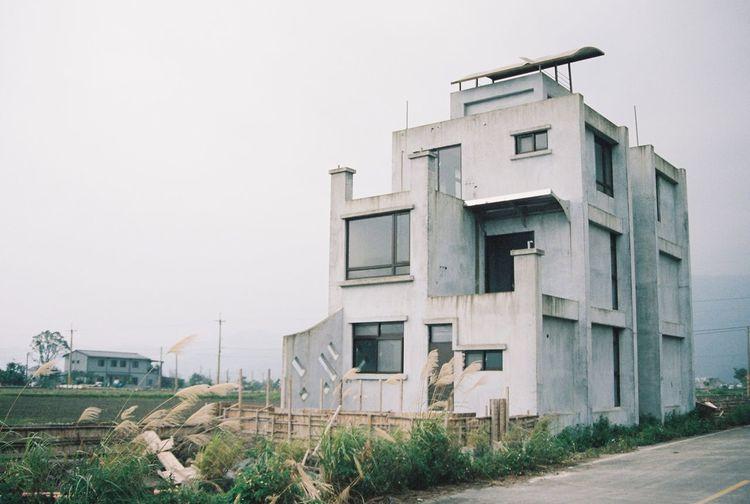 Building Exterior Architecture Built Structure House Clear Sky Outdoors Filmcamera Film Film Is Not Dead No People Filmisnotdead Residential Building Day Plant Sky Grass